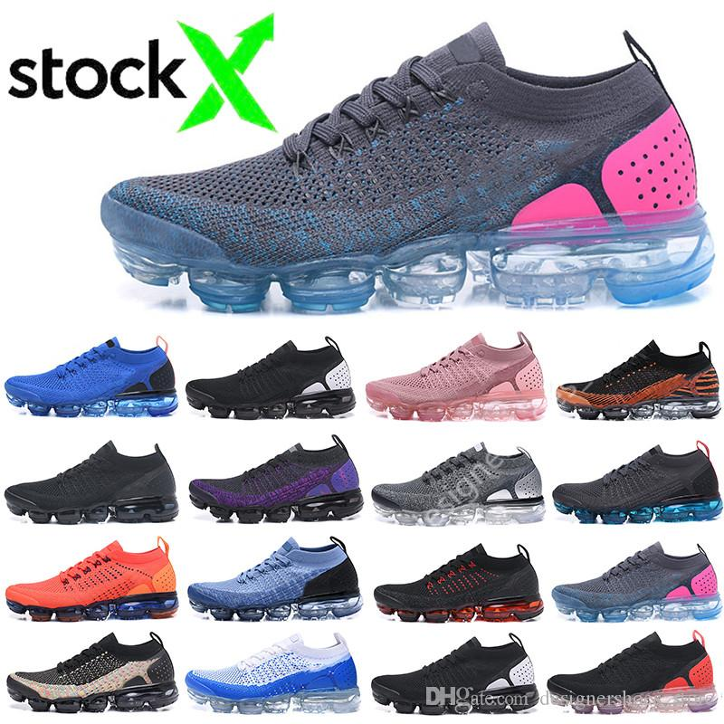 Almofada 2020 New 2018 Fly 2.0 Homens brancos pretos triplos Running Shoes Mulheres respirável Red Azul Chaussures malha Sneakers Trainers Zapatos