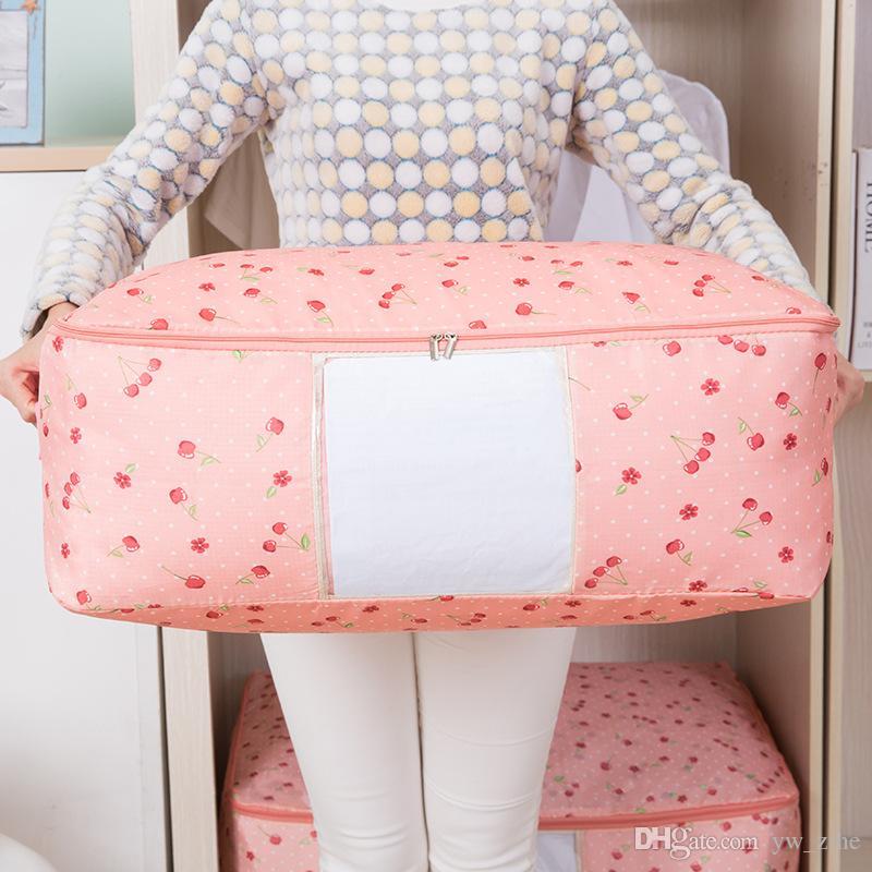New Waterproof Portable Clothes Storage Bag Organizer Folding Closet Organizer For Pillow Quilt Blanket Quilt Bag Organizer lp0058