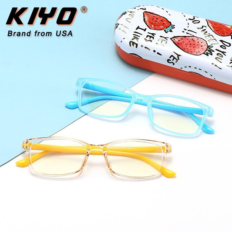 KIYO 2020 New Kids Moda anti azul claro del marco óptico TR90 marcos de las lentes de los vidrios Gafas Plaza 8319