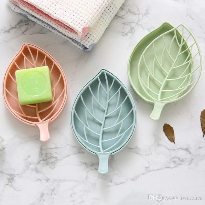 Creative Leaf Soap Holder Bathroom Accessories Shower Soap Box Dish Storage CB