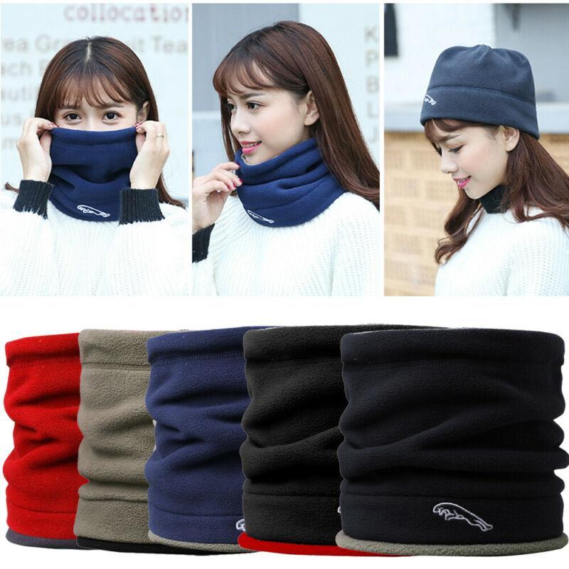 Женщины Мужчины руно Neck Warmer Тепловое Snood Hat Лыжная одежда шарф Beanie Балаклава