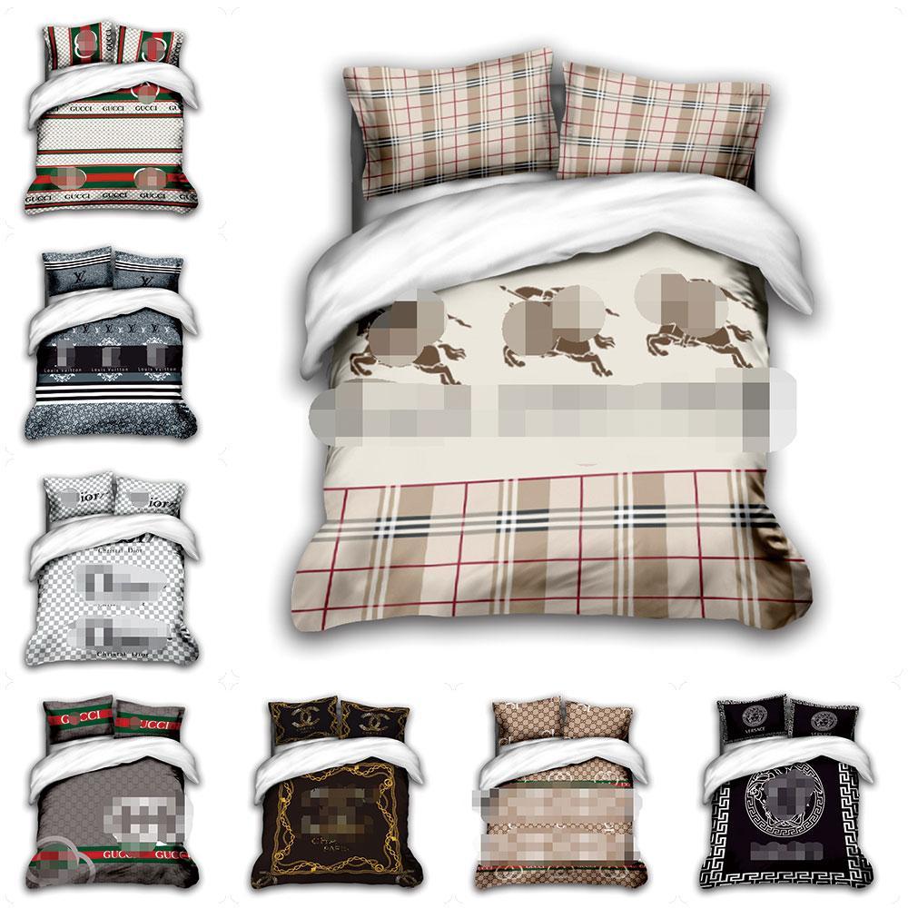 Tasarımcı yatak yatak seti Tasarımcı Yatak Yorgan kraliçe lüks yatak takımları vaka kraliçe nevresim yastık ayarlar