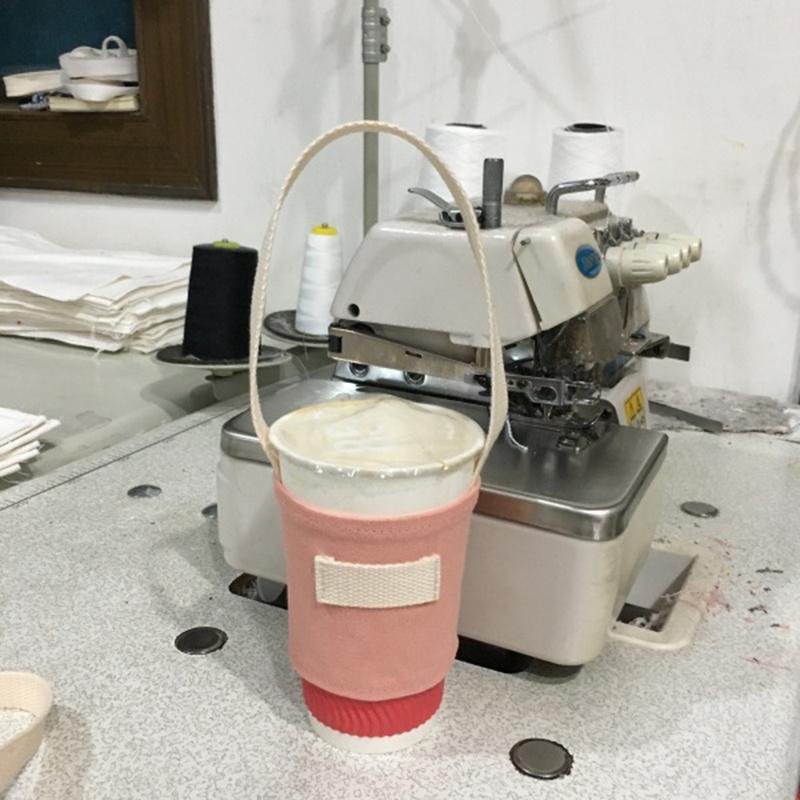 Tragbare Wasserflaschenhalter Tragetasche Kaffeetasse Lagerung Hülsen-Abdeckung Leinwand Druck Milk Tea Set Trinkflasche Strap