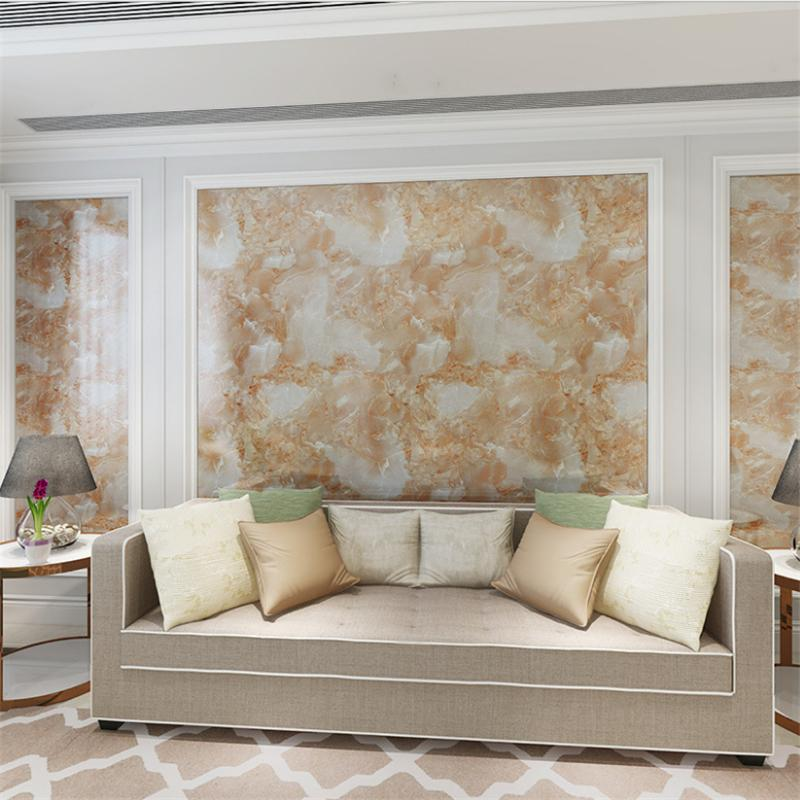 Usine modèle de marbre imitation gros auto-adhésif papier peint, autocollants de bureau de table basse, papier rénovation meubles