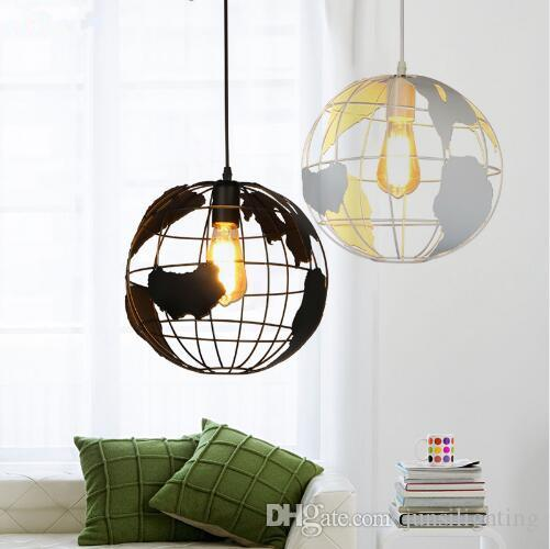 Globe Pendant Lights Black White Lampshade for Kitchen Bar Dining Room Restaurant Coffee Shop Home Decoration Hanging Lamp