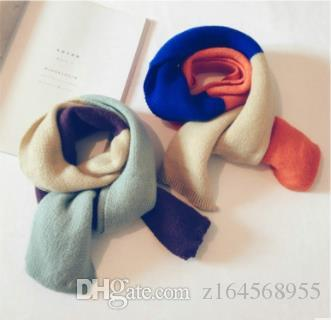 Autumn and Winter New Baby Scarf for Boys and Girls Korean Version of Double-sided Color Imitation Cashmere Wool Neck