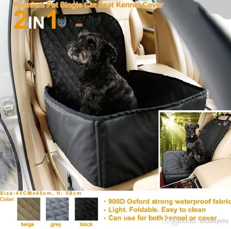 جديدة للماء الكلب حقيبة الحيوانات الأليفة سيارة الناقل الكلب تحمل حقيبة تخزين الحيوانات الأليفة الداعم غطاء مقعد للسفر 2 في 1 الناقل دلو سلة