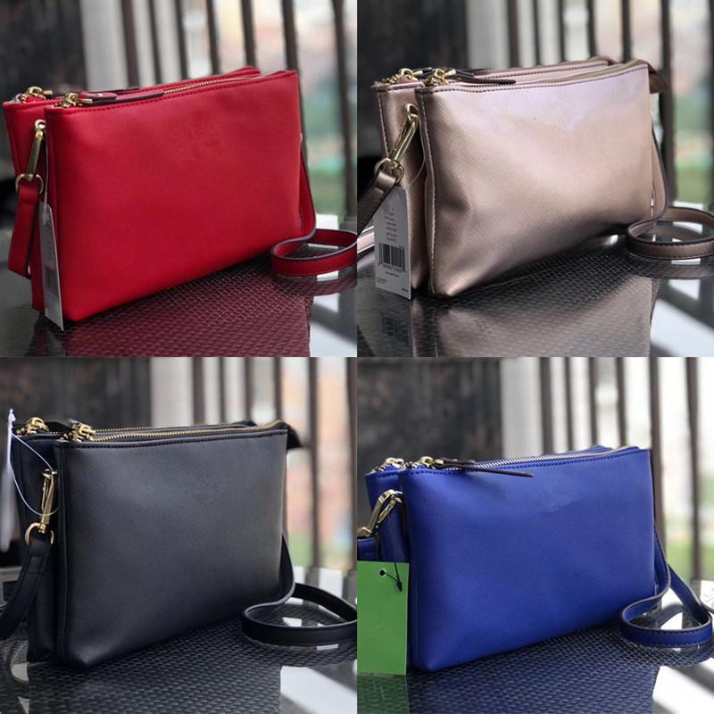 Women KS Handbags PU Leather Wallet One Shoulder Crossbody Bags Double Layer Zipper Backpack Fashion Lady Purse Hot Sale C41702