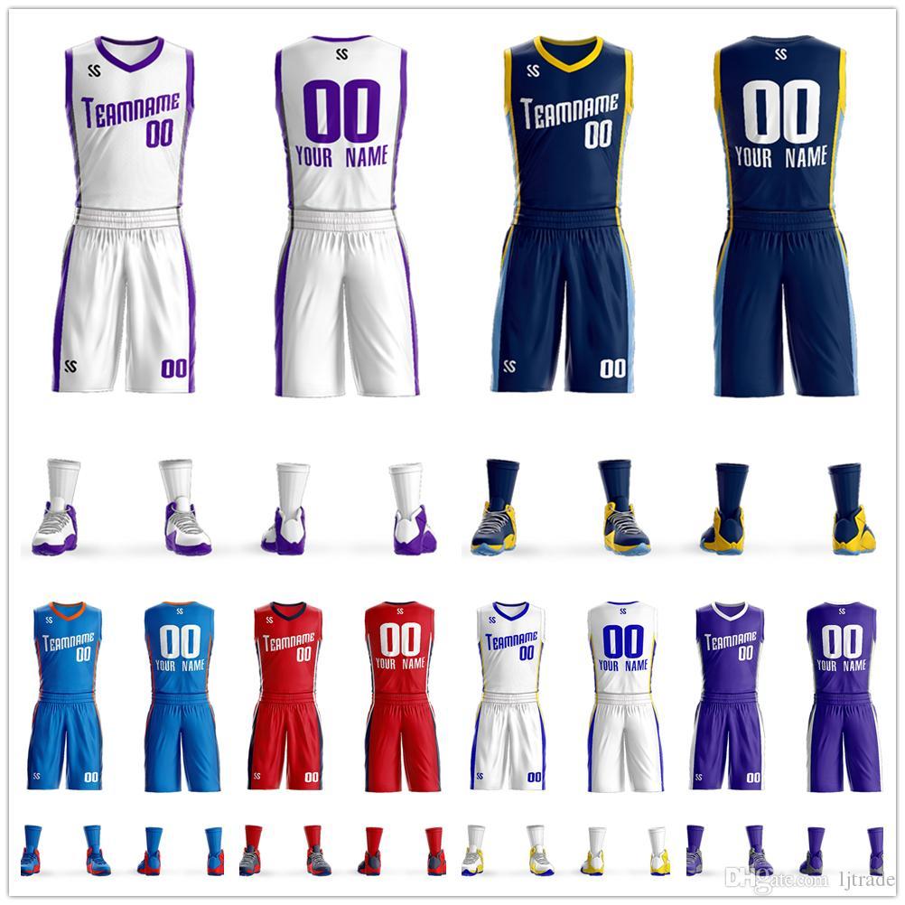 Conjunto de uniforme de basquete dos homens respirável esportes ternos secagem rápida de basquete dos homens jerseys barato para students2020 novo