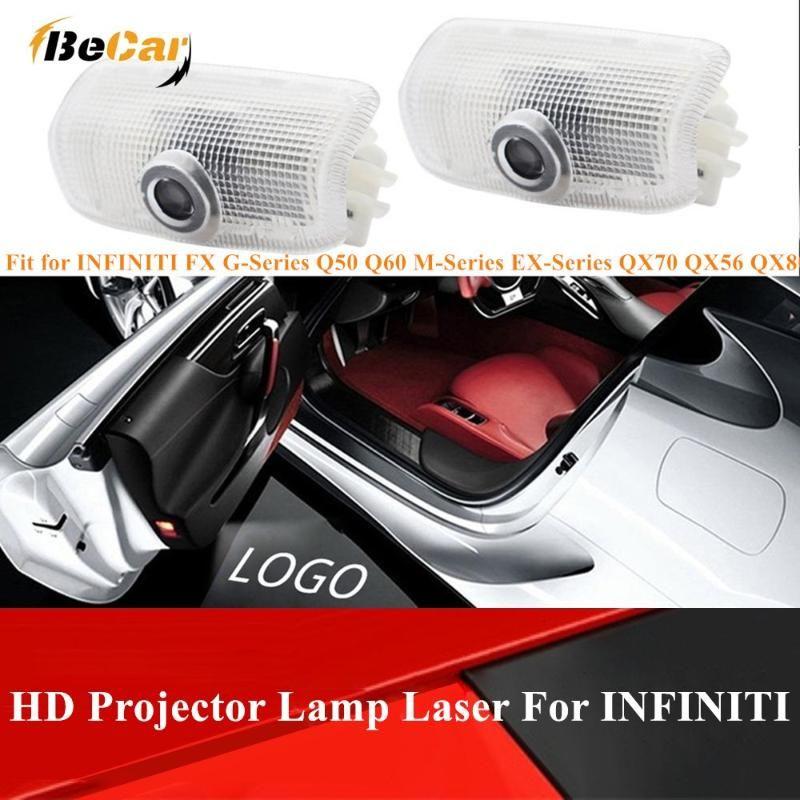2 шт LED дверь Дух Тень Логотип проектор свет для INFINITI Q30 QX30 Q50 FX Q70 JX35 QX60 QX80 автомобиля Атмосфера Свет Infiniti