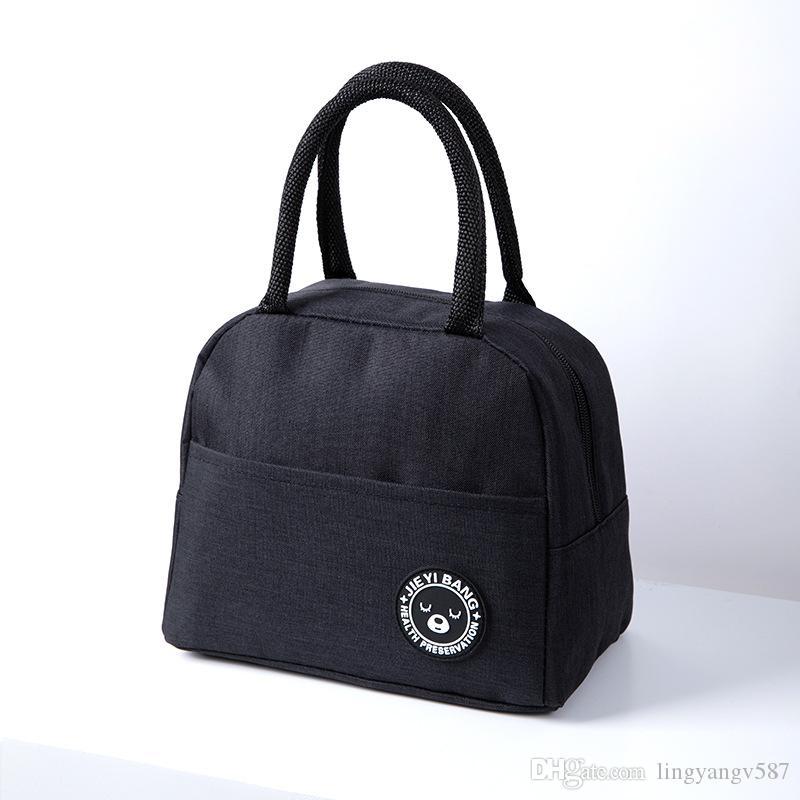 Duplas Almoço do saco reutilizável Lunch Box Lunch Tote impermeável saco de mantimento para a Escola Trabalho de escritório para crianças, adultos, crianças, nw
