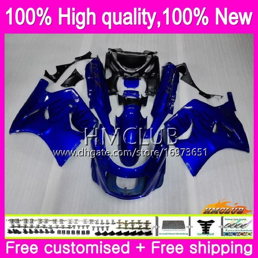 Body For KAWASAKI ZX-11R ZZR 1100 CC ZX11R 93 94 95 96 97 Blue black 52HM.2 ZZR1100 ZZR-1100 ZX 11R 1993 1994 1995 1996 1997 Fairing kit
