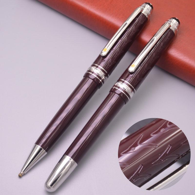Новое поступление Маленький принц коричневый и синий гравировка 145 Роликовая ручка шариковые ручки роскошные офисные школьные принадлежности с серийным номером бренда MB