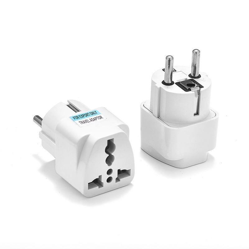Plug Adapter 1pcs Universal UE Internacional AU UK US Para UE Euro KR Travel Adapter Tomada Converter Tomada