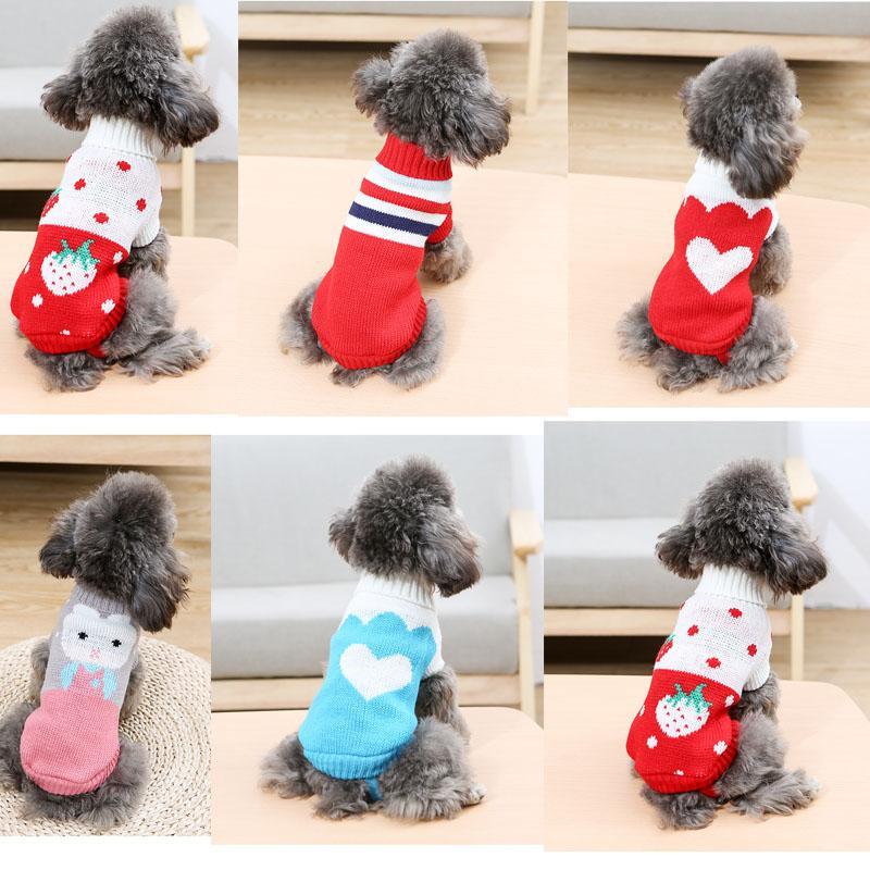 Camisola do cão 11 Estilo Knit Sweater Dog Brasão de cachorro bonito tricô gato de estimação camisolas pulôver Dachshund malha # 4-16