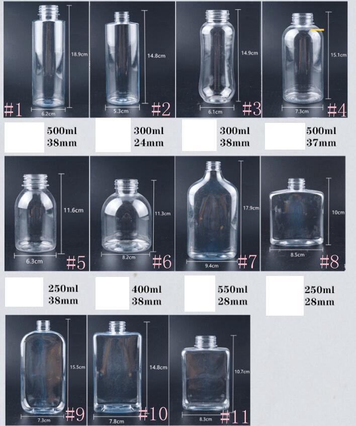Deniz GGA3486 By Kapak ile Plastik İçecek Şişe 250-550ml Suyu Şişeleri Şeffaf Yuvarlak Düz kare Su Şişeleri Sızdırmazlık İçecek Kupası
