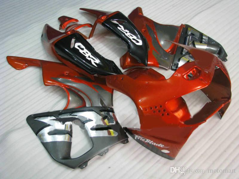 Kit de Carenagem da motocicleta para HONDA CBR900RR 919 98 99 CBR 900RR 1998 1999 CBR 900 RR vermelho prata preto Carimbos set + 7 presentes