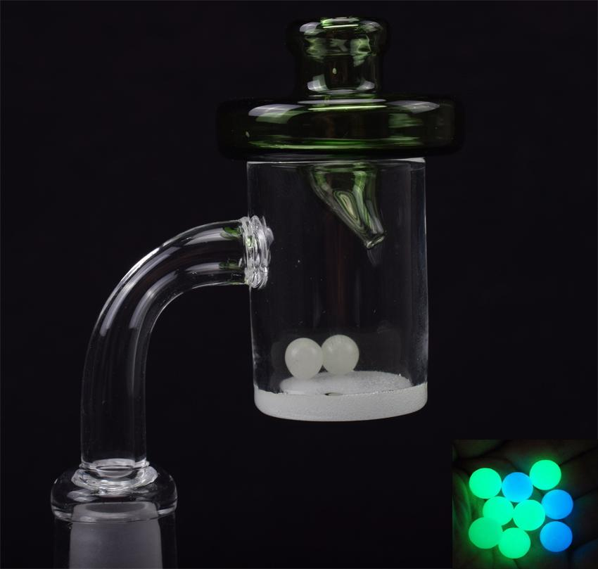 25mm XL Quartz Banger Nail 4mm Thick 90&45 Degrees domeless Nail with UFO Carb Cap and Terp Pearl for Dab Bongs Rigs