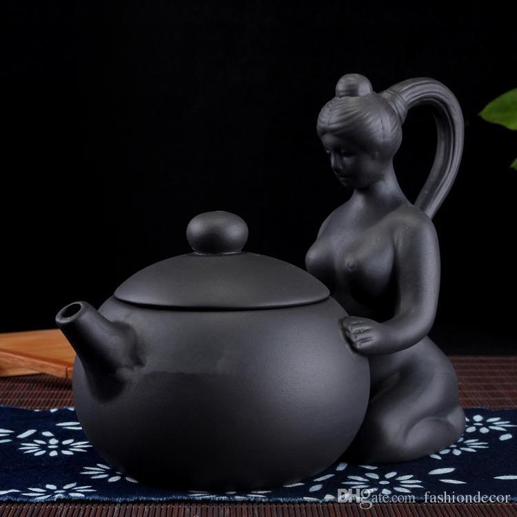 Donne sexy Yixing Teiere Handmade cinese Xi Shi Teiera Autentica Yixing Tea Kettle Viola Clay Pot Kung Fu Tea Set