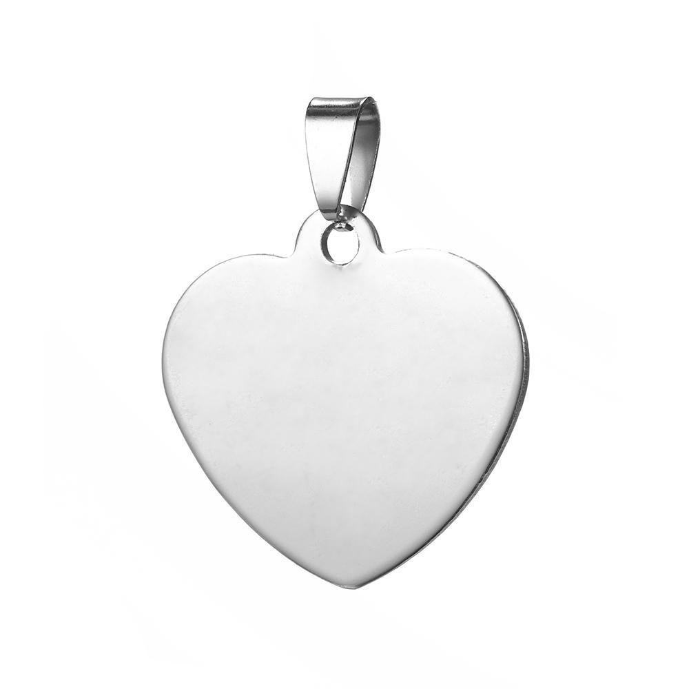 ZST0041 En çok satan 2020 son tasarım özel logo çekicilik Paslanmaz çelik kalp şekli bayan hediye kolye DIY aksesuarlar