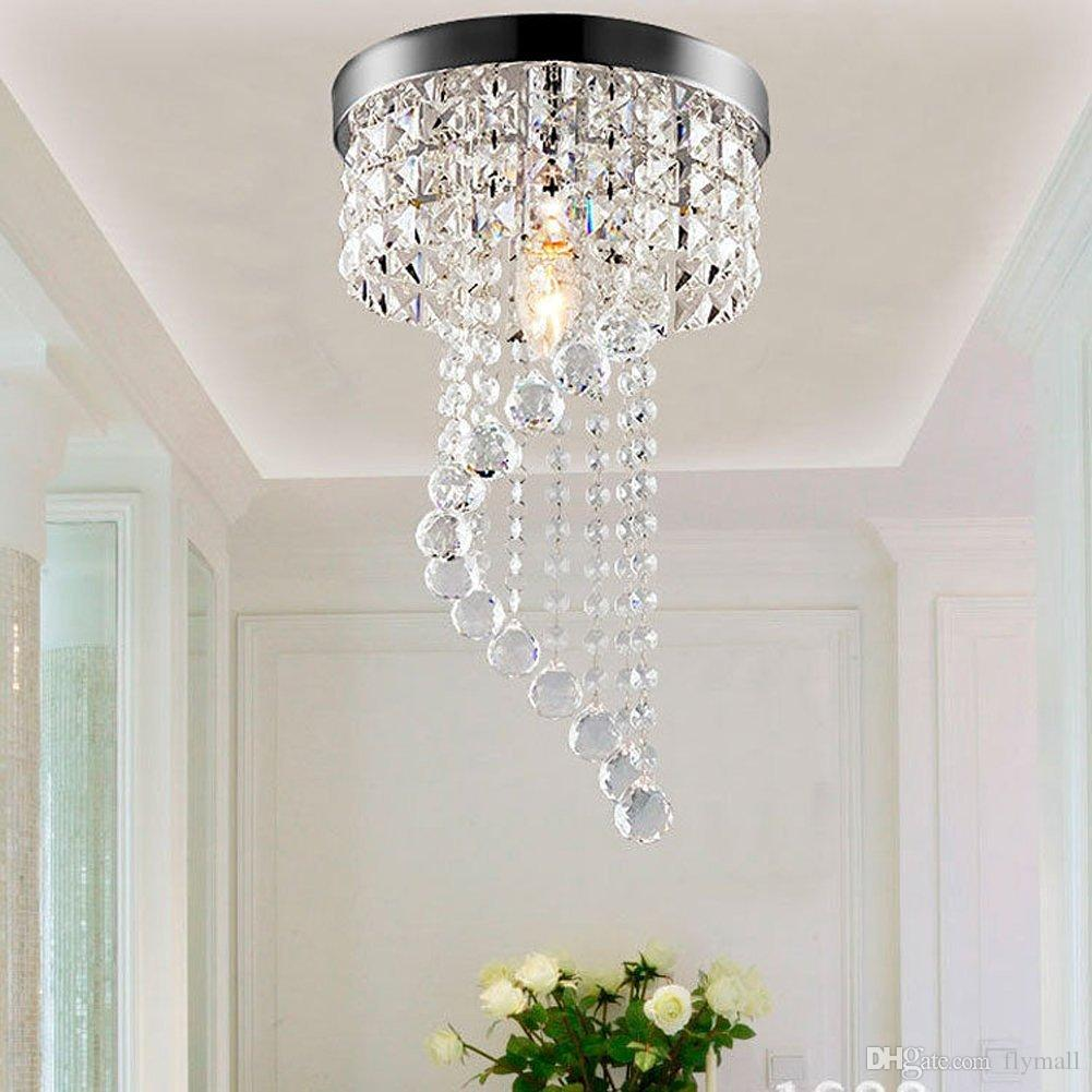Moderna de techo LED luces Luz pendiente Fixture araña de cristal de iluminación para la cocina de la sala Hoteles ala del balcón Pasillo