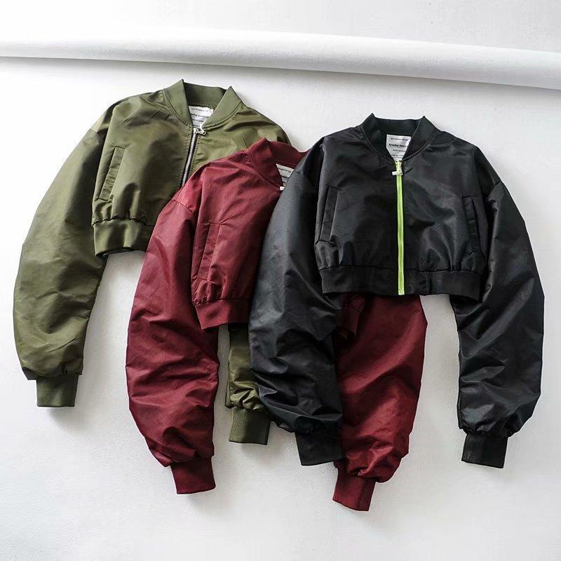 Vestes pour femmes Court chemisier rembourré Harajuku Pilote Femmes manteau Vêtements de motocyclette extérieure haute taille