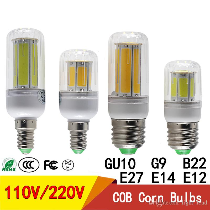COB LED Corn Bulbs E27 E14 E12 B22 G9 GU10 led bulb 110V 220V 5W 8W Energy Saving Lamp for Indoor lighting