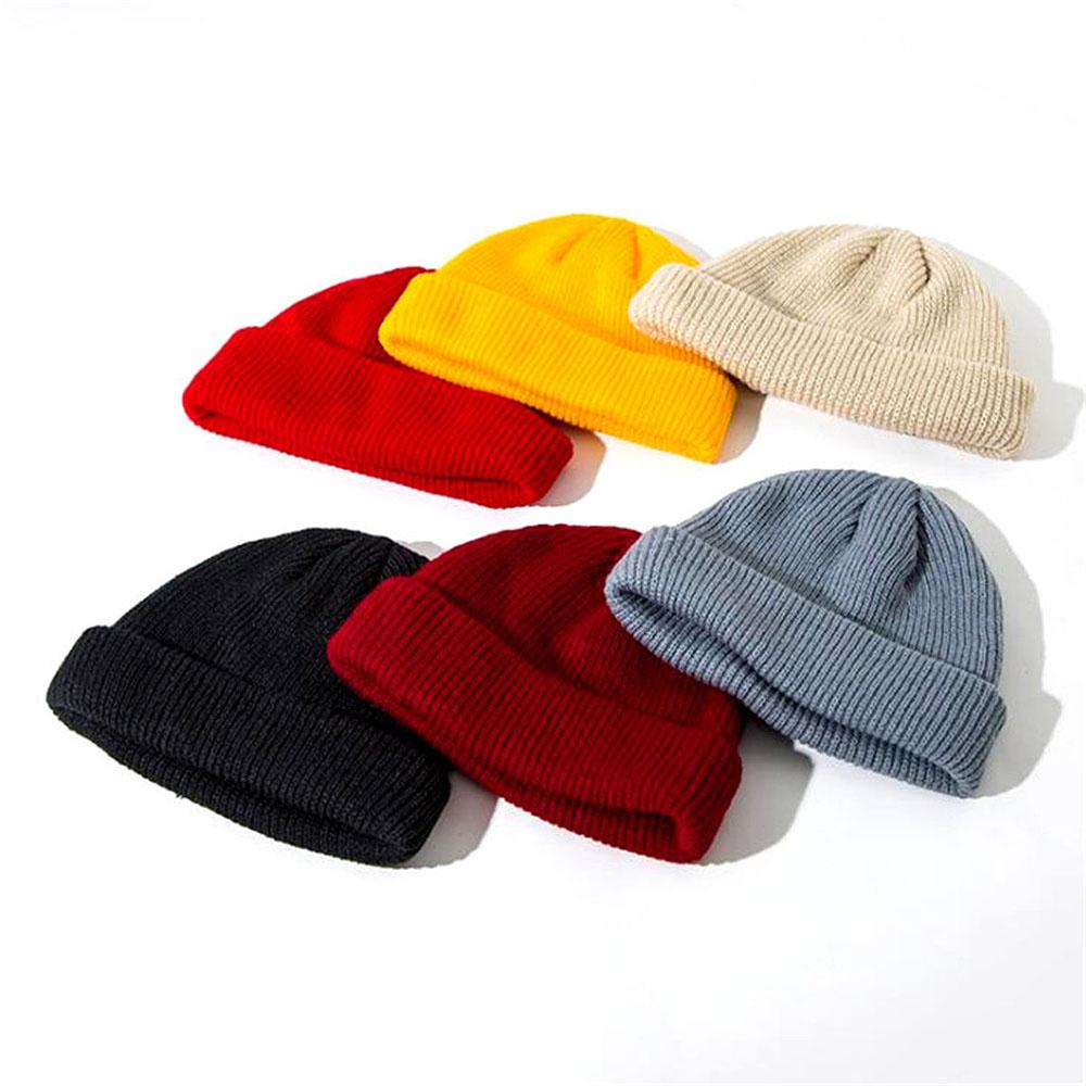 Top Hat Stylish Beanie Hat Warm Ribbed Winter Turn Ski Unisex Fisherman Docker