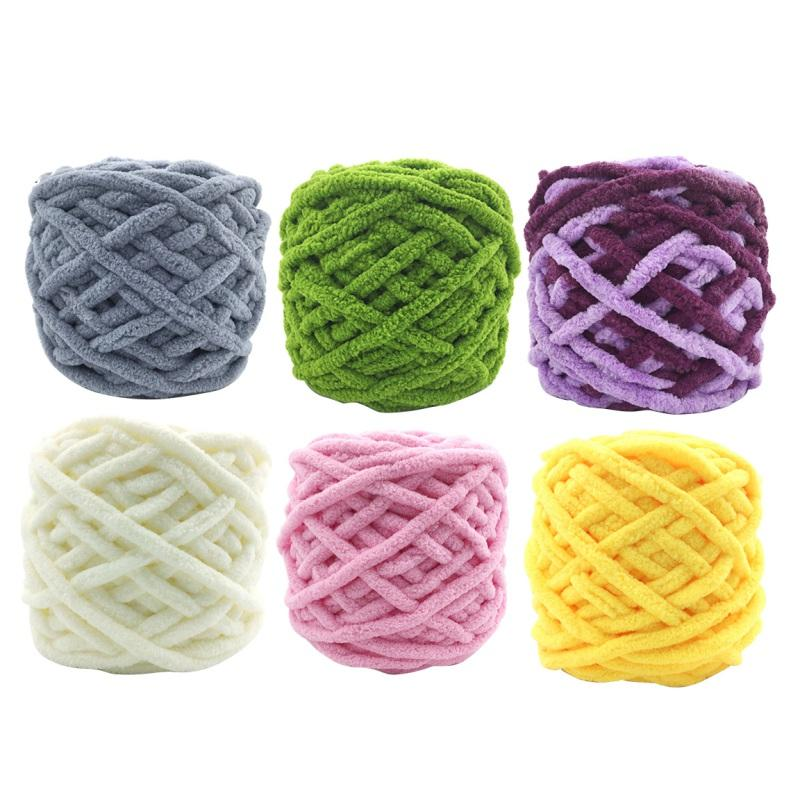 Home Weaving Coarse Colorful Wool Threads Dye Scarf Hand-knitted Yarn For Hand knitting Soft Single Strand Coarse Wool Threads