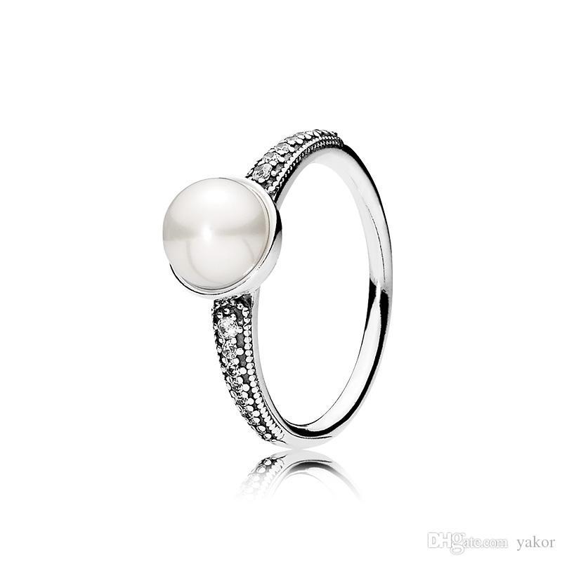 anello pandora perla bianca