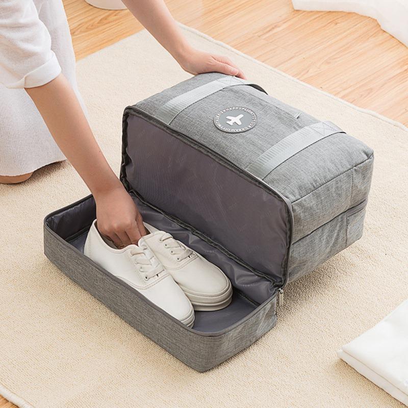 Portable Sac de rangement Organisateur chaussures Fermeture à glissière de stockage kit poche séparation cas humide sec Accessoires Sac
