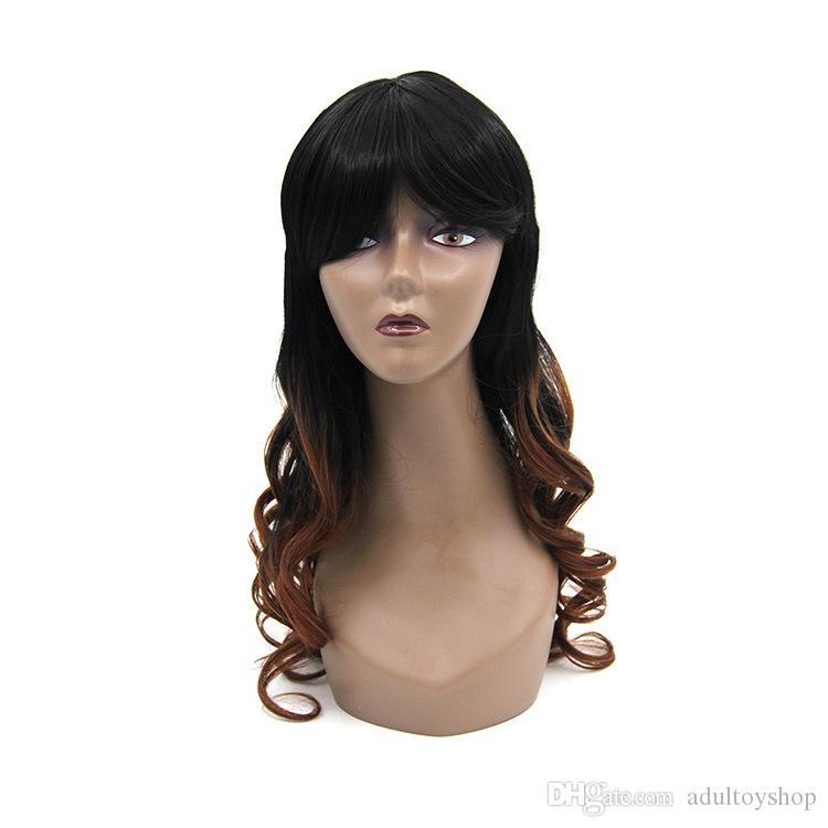 Starlight wig female realistic big wave long hair curls