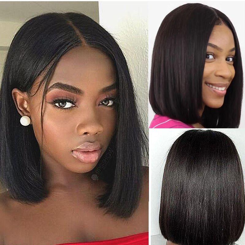 Menschenhaar-Perücken Natürliche Farbe kurzer Bob Perücke Stil brasilianisches Haar