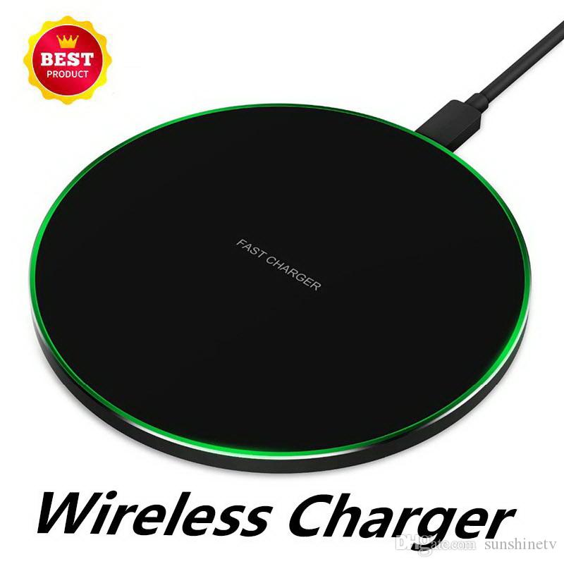 2019 hot Aluminum Alloy Wireless Charger Cell Phone Wireless Transmitter Applicable to Qi Fast Charging Wireless Charger Pad