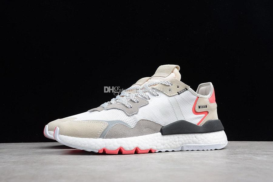 NEW 2019 Nite Jogger For Men Boost Reflective Light Casual Shoes Sports Womens Jogging Outdoors Retro Trainers Female Mens Sneaker Scholl Shoes