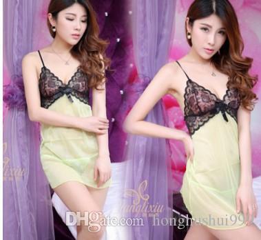 Baixo preço de alta qualiry atacado 3 unidades / lotes macacão lady lingerie camisola tentação pijamas pijamas 7fy