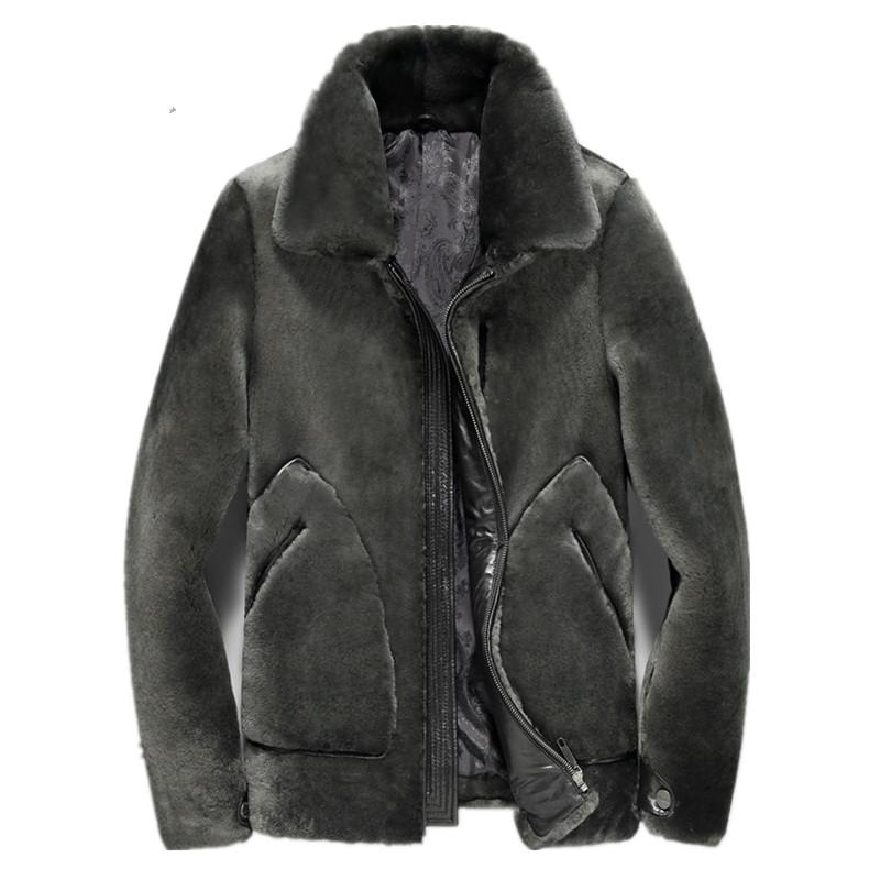 Real Fur Coat Men's Winter Jacket Natural 100% Wool Fur Coat  Mens Jackets and Coats Plus Size 5xl Chaqueta Hombre MY1774