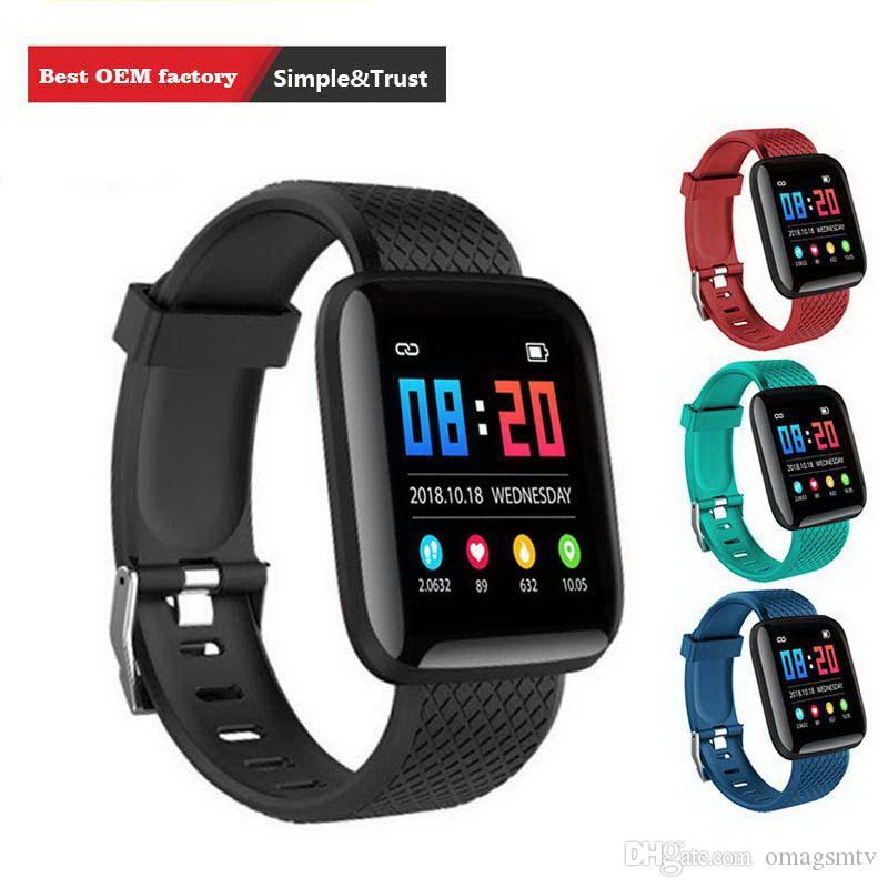 116 plus smart watch homens pulseiras de fitness rastreador de freqüência cardíaca passo contador monitor de atividade banda pulseira pk 115 plus m3 para iphone android