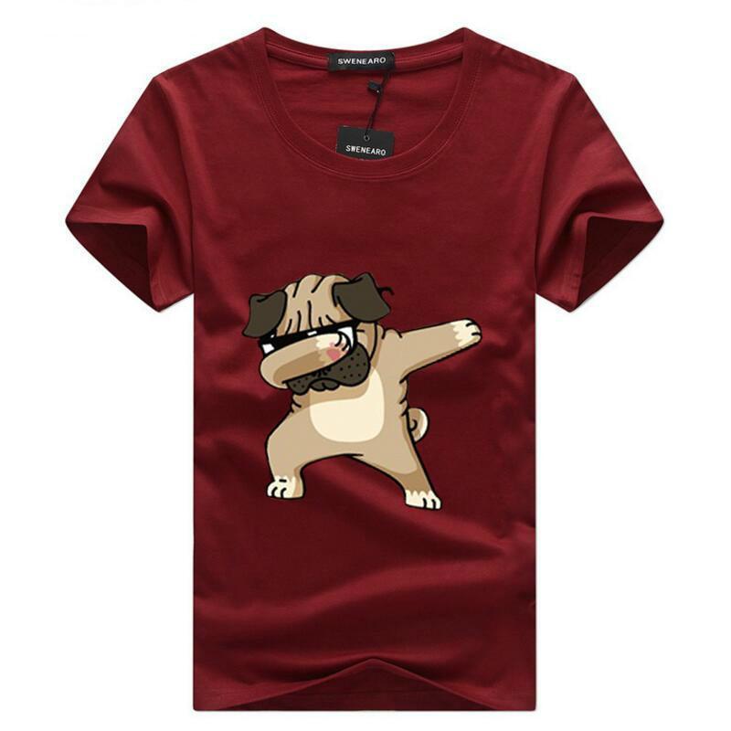 T-shirts pour chien animaux Mode pour hommes taille basse imprimé drôle t-shirt hommes d'été rue Casual Hip-hop T-shirt Hauts pour hommes 5XL