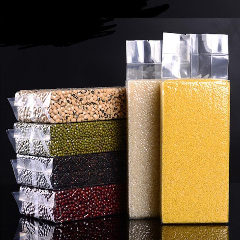 много размер прозрачный пластиковый рис зерна упаковочные мешки пищевой вакуумный мешок большой мешок кухня хранения карманный органайзер LX2803