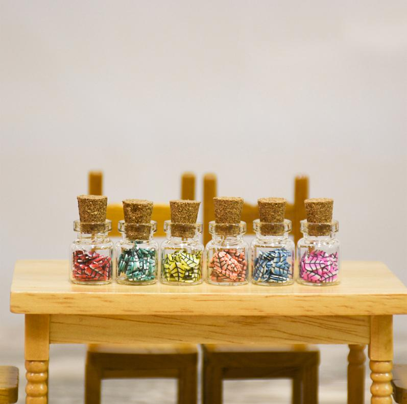 G05-X5091 children baby gift Toy 1:12 Dollhouse mini Furniture Miniature Simulated tea bottle 5pcs/set