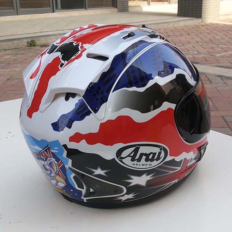 Tam yüz motosiklet kask Daniel Pedrosa yaz kask tüm yıl yarış kros Doohan kazasında yuvarlak