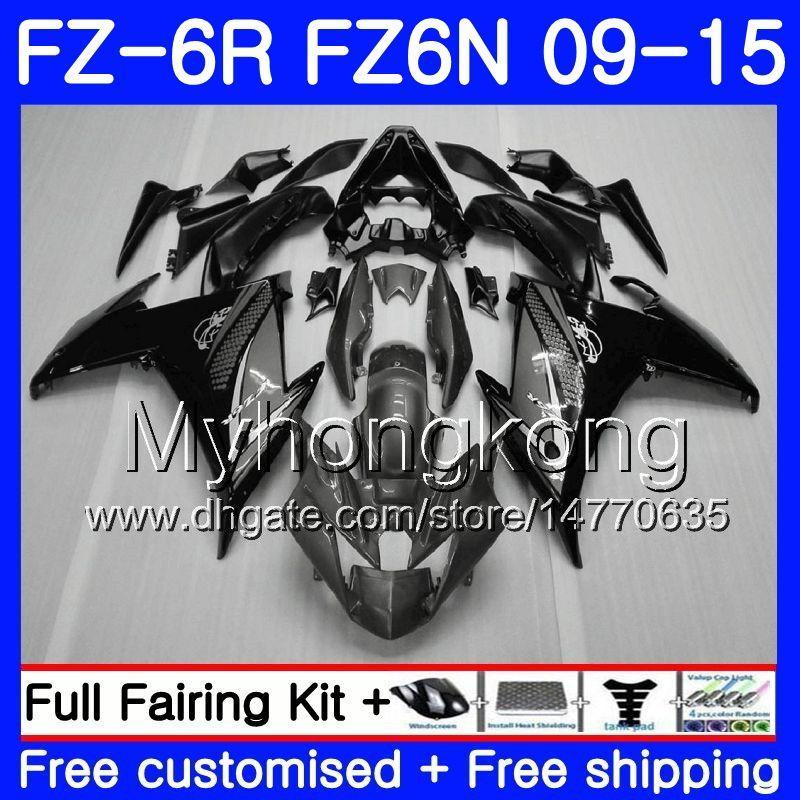 Серый черный горячий корпус для YAMAHA FZ6N FZ6 R FZ 6N FZ6R 09 10 11 12 13 14 15 239HM.17 ФЗ-6р ФЗ 6р 2009 2010 2011 2012 2013 2014 2015 обтекатели