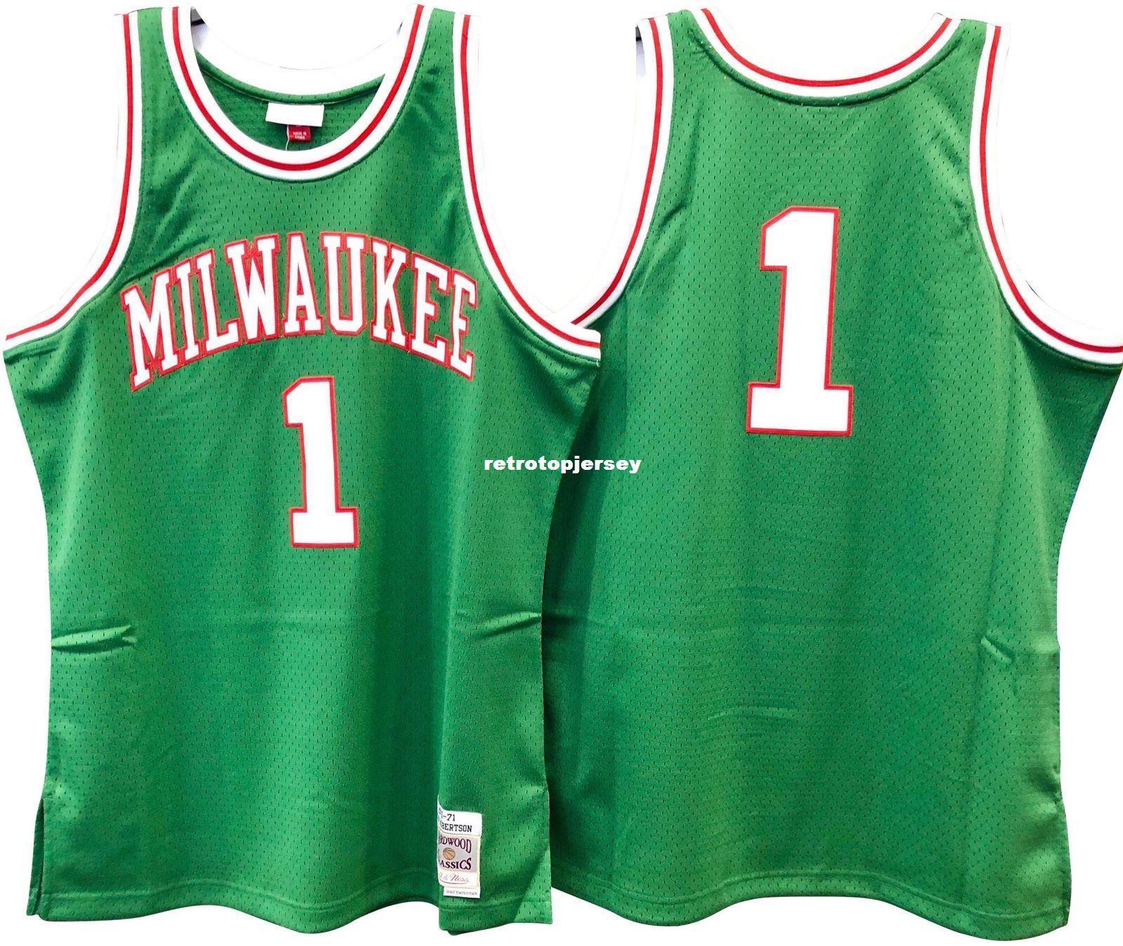 OSCAR ROBERTSON # 1 verde cucito di alta qualità Vintage Top JERSEY Mens Vest Taglia XS-6XL Pullover di pallacanestro cucita Ncaa