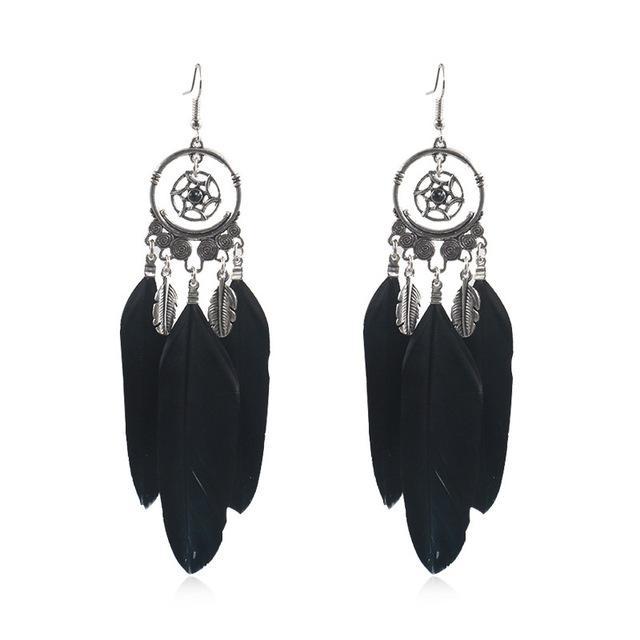 venda quente Europeu e brincos borla penas tendência americanos do sexo feminino jóias criativa coletor ideal brincos rodada