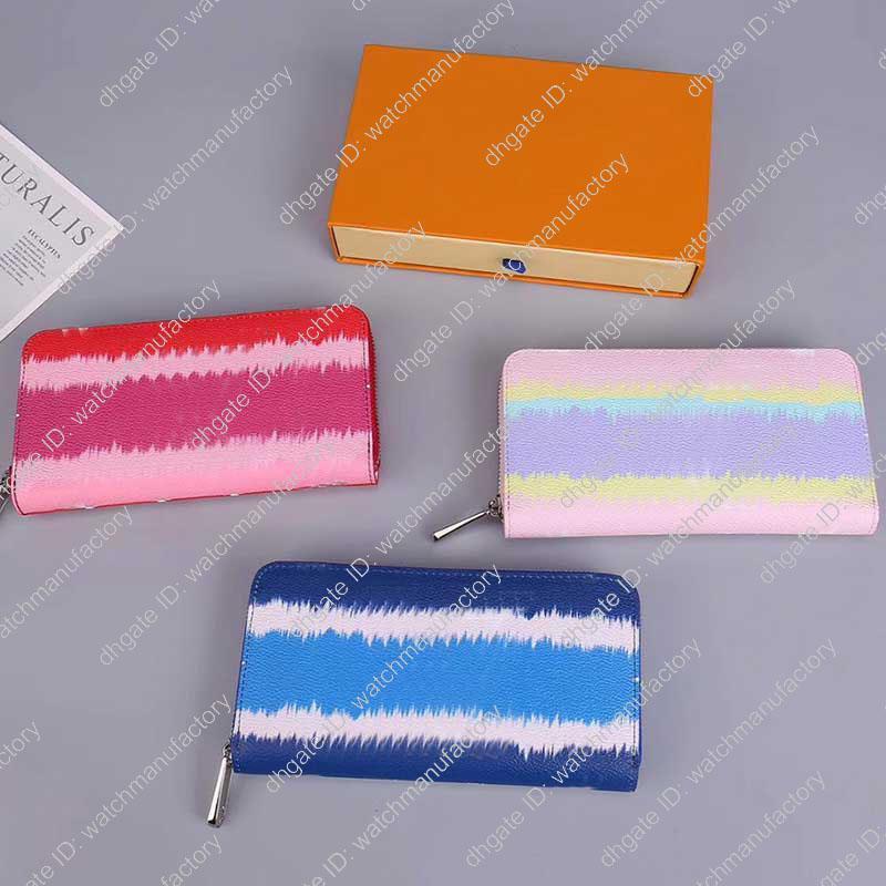 Designer Wallet Marque de luxe de Femmes Portefeuilles Escale longue Zippy portefeuilles Lady véritable porte-monnaie en toile de doublure en cuir