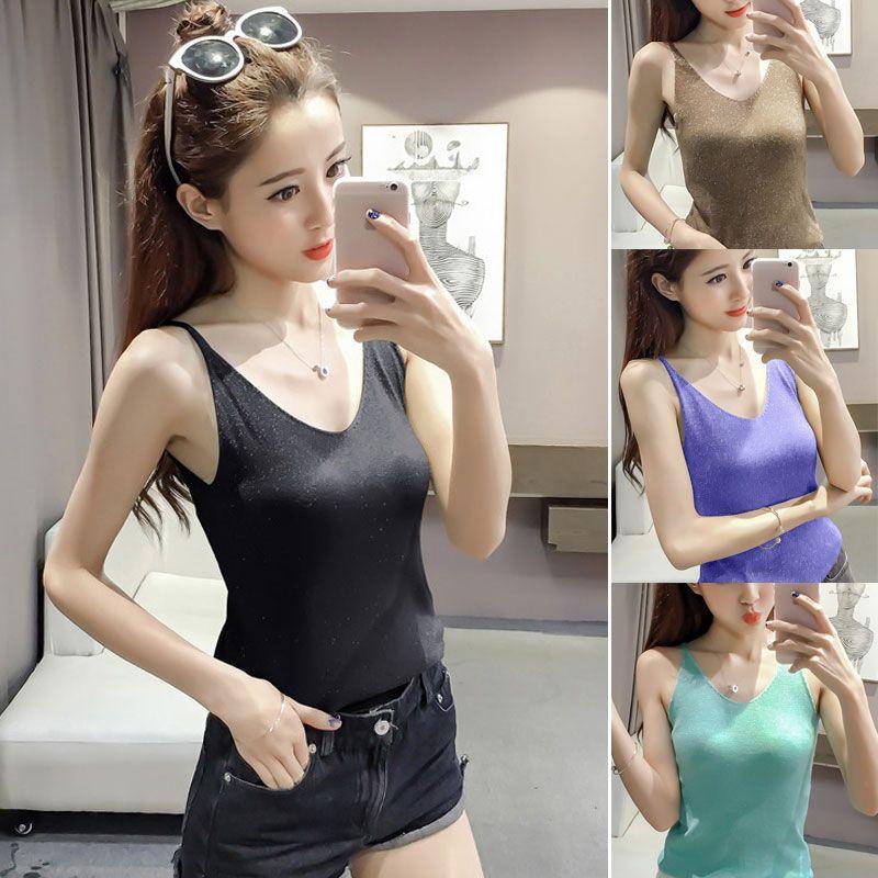 Cool Summer Backless Women Off Top a spalla Camisoles in maglia a spaghetti casual con lavorazione a maglia