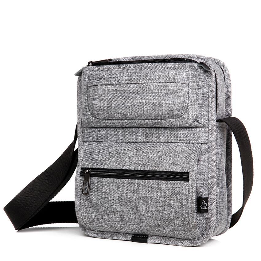 CAI Tablet Messenger Shoulder Bag multi-tasche Crossbody Mini borse casual scuola per Adolescente Bambini maschi Borse Moda Uomo