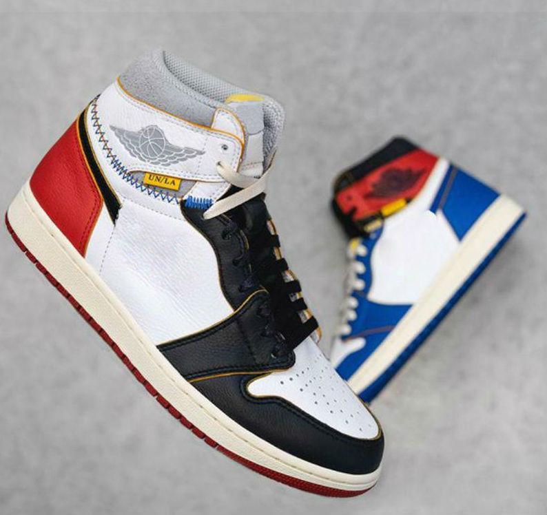 Новый 1 High OG NRG 1S баскетбол обувь Красный Синий Уникальный дизайнер моды Ведущие мужские Кроссовки Спортивная обувь