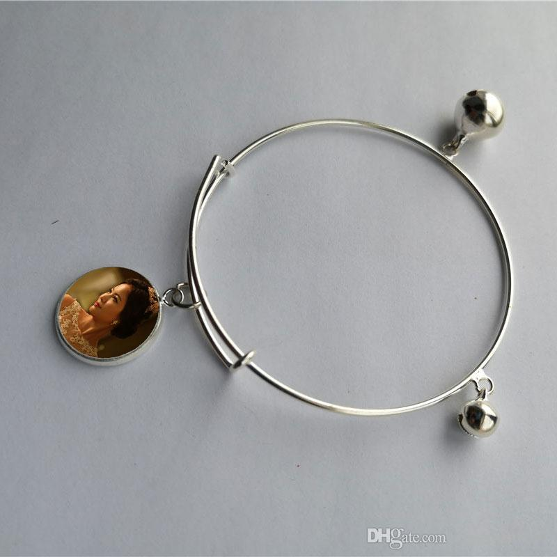 Sublimation leer kleine Glocke Charm Armbänder heiß Transferdruck Armband diy Verbrauchsmaterialien New Arrvial